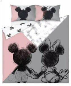mickey mouse and minnie mouse duvet cover double reversible rh ebay co uk