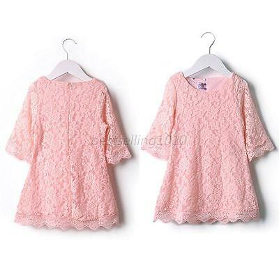 Floral Flower Lace Party Skirt Kids Girl Sets Baby Dress Clothing Size 2-7Years