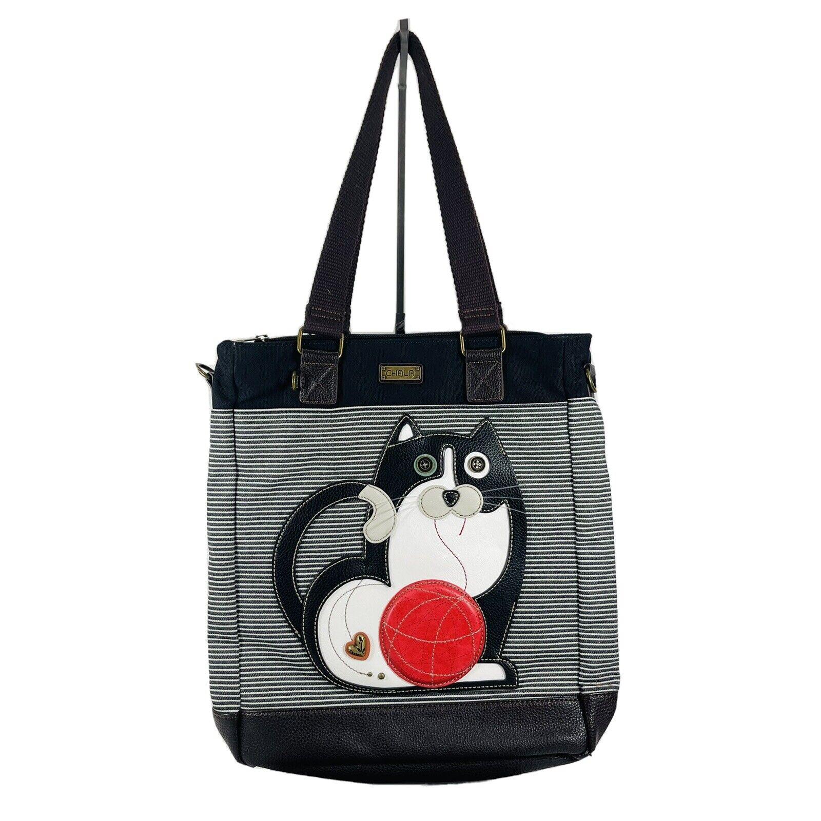 Charming Chala Purse Handbag Leather & Canvas Wor… - image 1