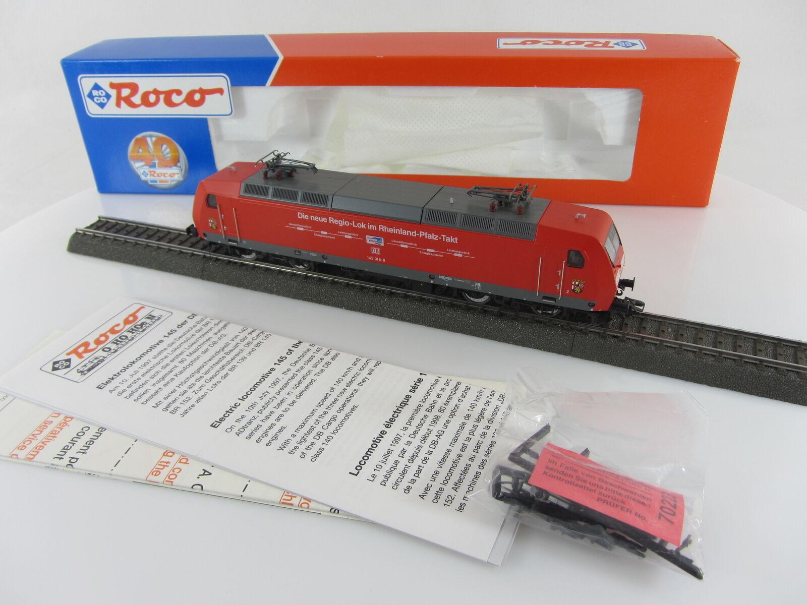 ROCO 69561 Elektrolokomotive 145 018-8 der DB in rot Digital sehr gut mit OVP