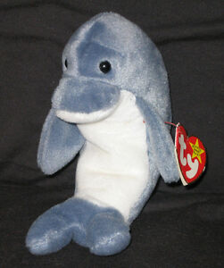 TY ECHO the DOLPHIN BEANIE BABY with WAVES TAG - ODDITY - MINT with ... 89fa3f30c469