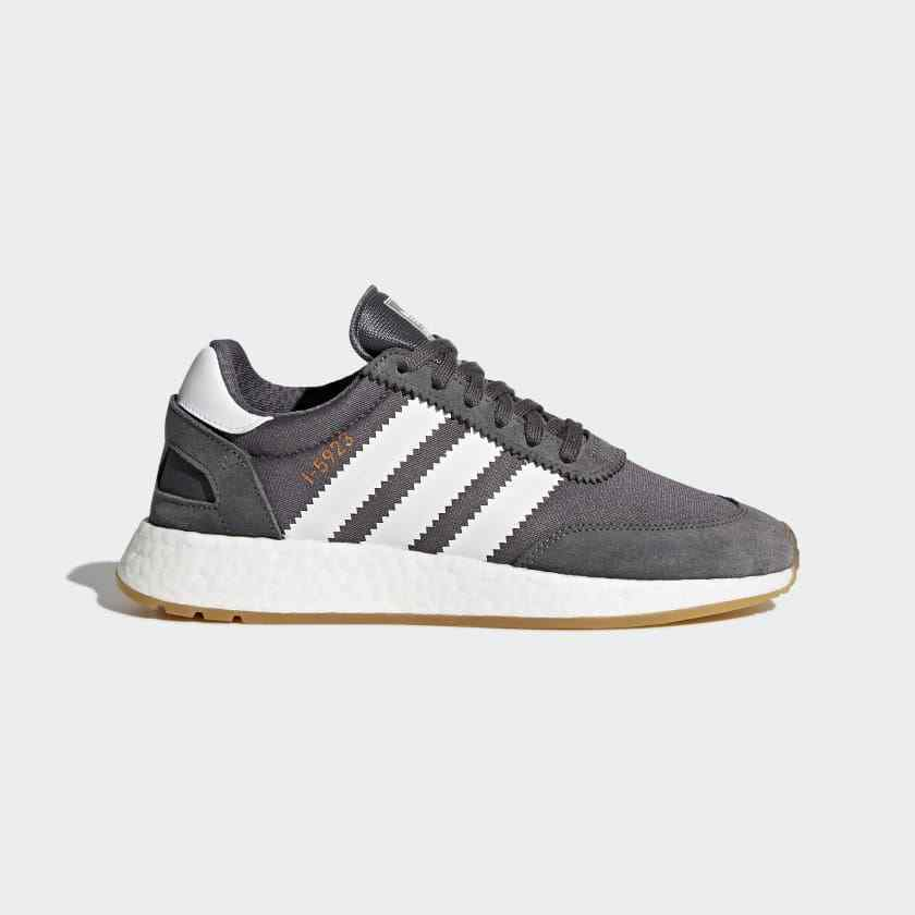 Women's Adidas originals I-5923 Casual shoes Grey White Gum BB6865 size 7.5