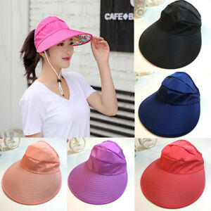 470ad278f66d6 Women Summer Sun Hats Sun Visor Hat With Big Heads Wide Brim Beach ...