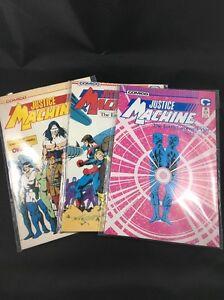 Justice-Machine-Lot-of-3-Comics-23-24-26-Comico-Vintage-1980s-Comics-VF