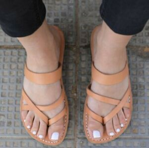 Greek-Leather-Sandals-for-Women-Handmade-Grecian-Spartan-Thongs-Gladiator-Roman