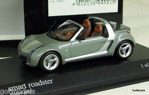 MINICHAMPS-1-43-400-032131-SMART-ROADSTER-2003-GREY-METALLIC-DIECAST-CAR