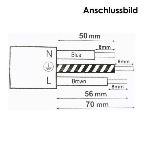 """Schutzkontakt-FLACH-Stecker /""""WTN-FlatPlug II/"""" Winkelstecker ganz flach 230V//16A"""