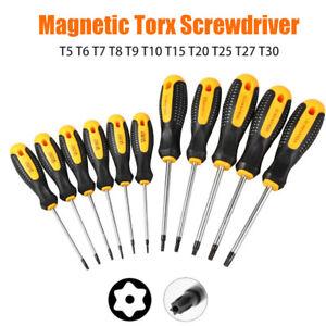 1PC-Drive-Cacciavite-Lunghe-Star-Torx-Foro-Magnetica-Antimanomissione-T5-T30