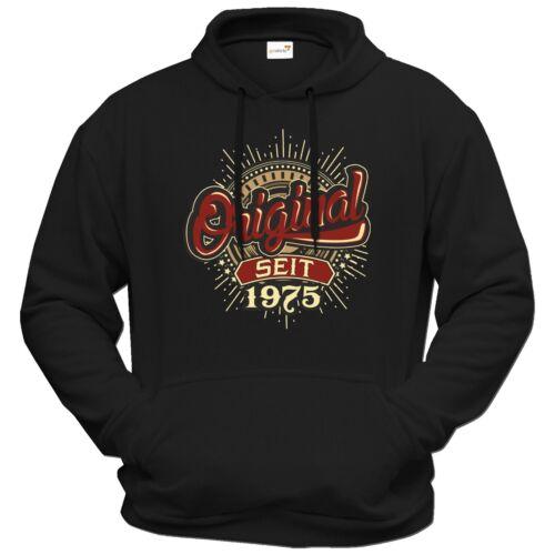 Original 1975 Birthday Getshirts Felpa Since con cappuccio Frameless® UXFzqX