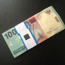 1/2 Bundle 50 PCS, Indonesia 1000 Rupiah, 2009-2013, P-141, UNC, Lot Pack
