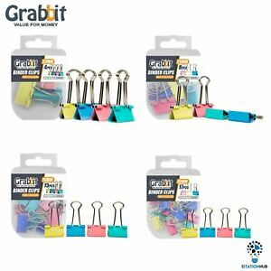 Grabbit-Mix-Colour-Binder-Clips-Home-Office-School-Stationery-Accessories