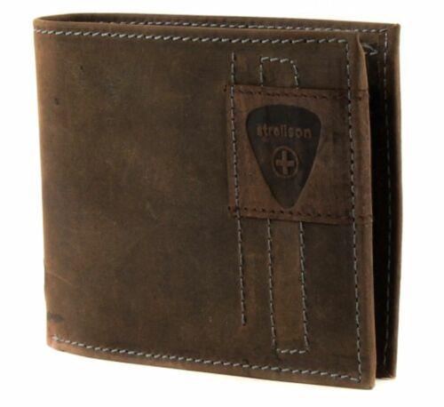 Strellson Richmond Billfold h6 Porte-Monnaie Portefeuille Portefeuille Dark Brown NEUF