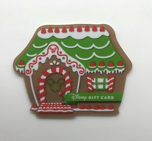 Details About Walt Disney World Ginger Bread House Shaped Gift Card Disneyland