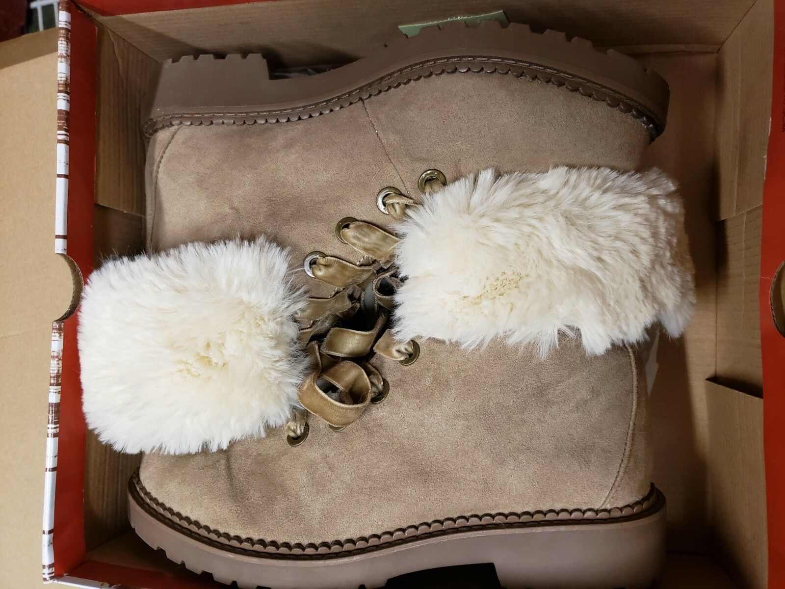 Unionbay Fur boot charlotte UB camel. Size 7