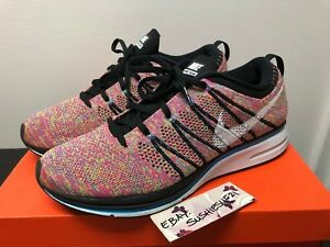 new products 8e390 6e02c Image is loading Nike-Flyknit-Trainer-11-Multicolor-Pink-Red-Racer-