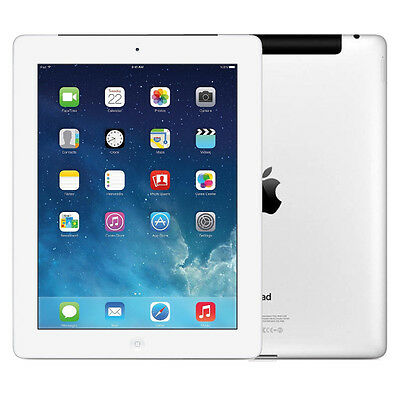 4G AT/&T 64GB Apple iPad 3rd Generation White Wi-Fi