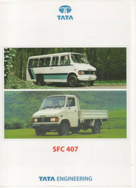 Tata SFC 407 truck & bus (made in India) _2001 Prospekt / Brochure