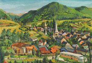 LOÏS MAILOU JONES : Arreau, Hautes-Pyrénées : 1949 : Archival Quality Art Print