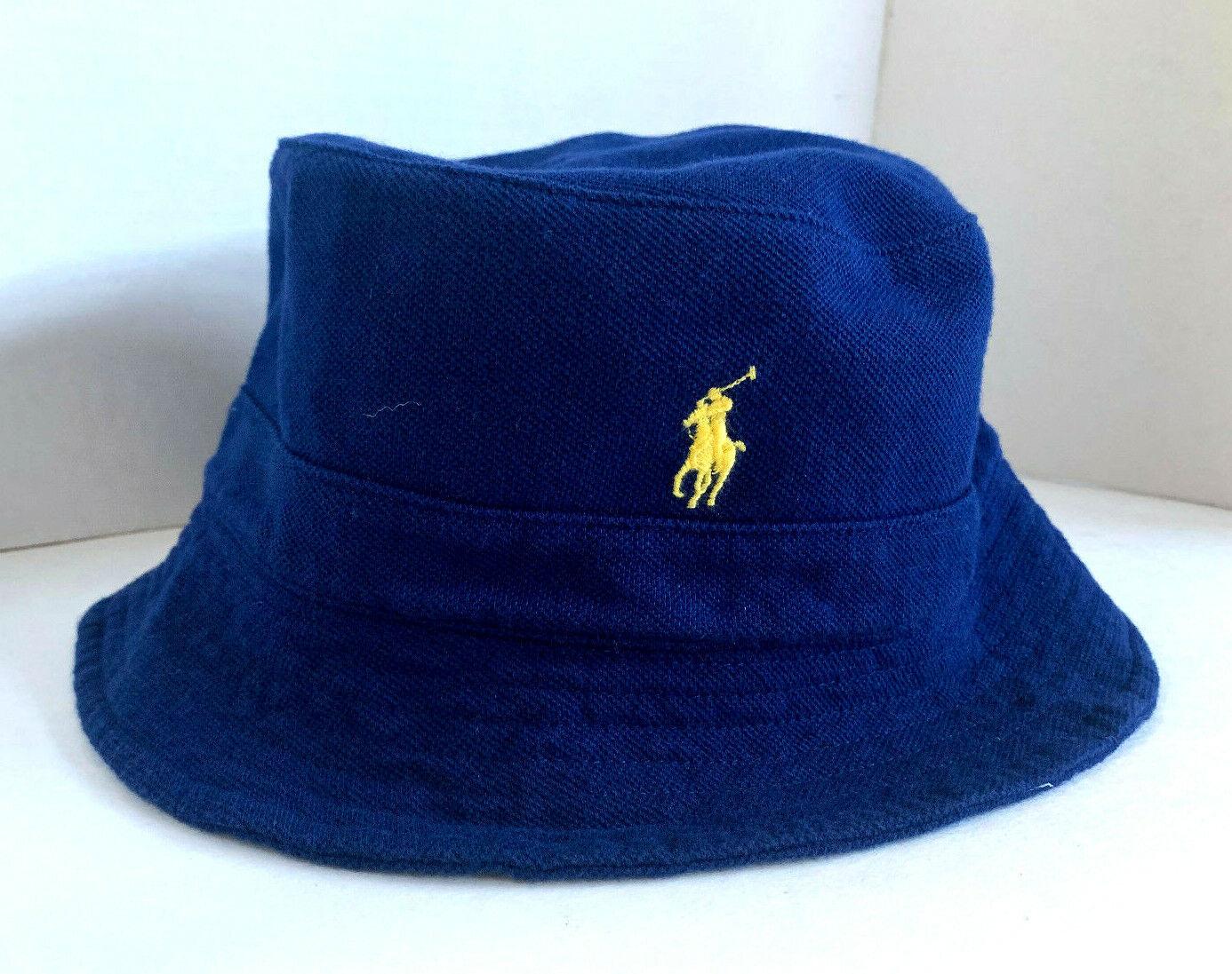 NEW  Ralph Lauren POLO Unisex Bucket Cap-Navy Gelb