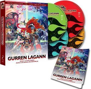 GURREN-LAGANN-Blu-Ray-DVD-Libro-Edicion-Coleccionista-Anime