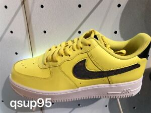 check out 0dba6 1d46a Details about Nike Air Force 1 Low Removable Swoosh Pack Yellow Pulse  CI0064-700 Size 8-13 New