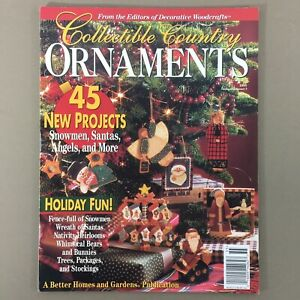 Collectible-Country-Ornaments-Magazine-Xmas-Decorative-Woodcraft-Projects-1995