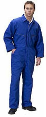 ROYAL BLUE HEAVY WEIGHT PADDED WARM BOILERSUIT QUILTED THERMAL ZIPPED OVERALL