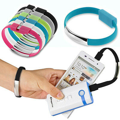 Bracelet Wrist Band USB Charging Charger Data Sync Cable Cord For cell Phone