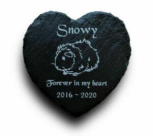 Personalised-Engraved-Slate-Heart-Pet-Memorial-Grave-Marker-Plaque-Guinea-Pig