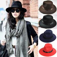 New Women Men Unisex Vintage Blower Jazz Hat Trilby Derby Cap Fedora Style Hats