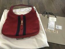 f9839c78aaf Gucci Jackie Web Stripe Soft Suede Hobo Shoulder Bag Beige 362968 ...