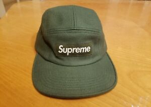 d34c9725 Supreme Wool Herringbone Camp Cap Loro Piana F/W 2014 Olive 5 panel ...