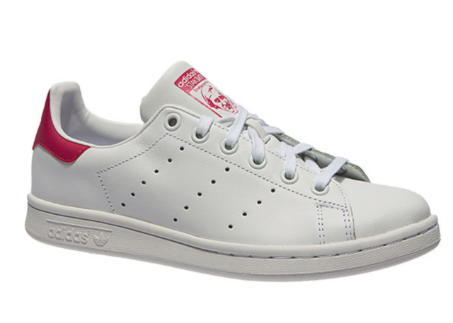 release date: 643a5 4a5cd adidas Stan Smith J Older Girls UK 5 EU 38 White   Pink Leather Trainers  Shoes
