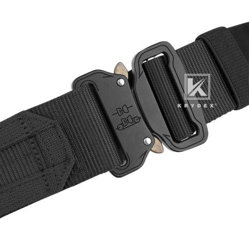 KRYDEX Tactical Belt 1.75 in Heavy Rigger Duty Belt Quick Release MOLLE Black