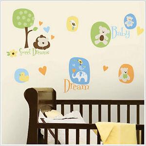 MODERN BABY wall stickers 25 decals nursery animal duck ...