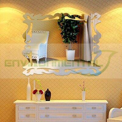 Vintage Classic Acrylic Plastic Mirrors Wall Art ROOM Decal Decor Sticker Glass