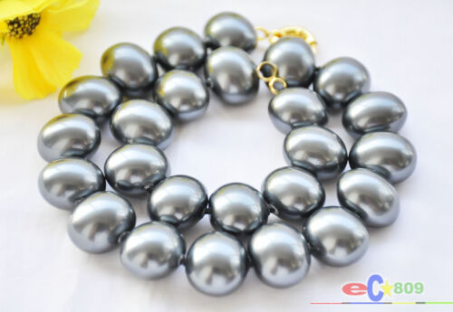 D0018  20mm EGG SOUTH SEA SHELL PEARL NECKLACE