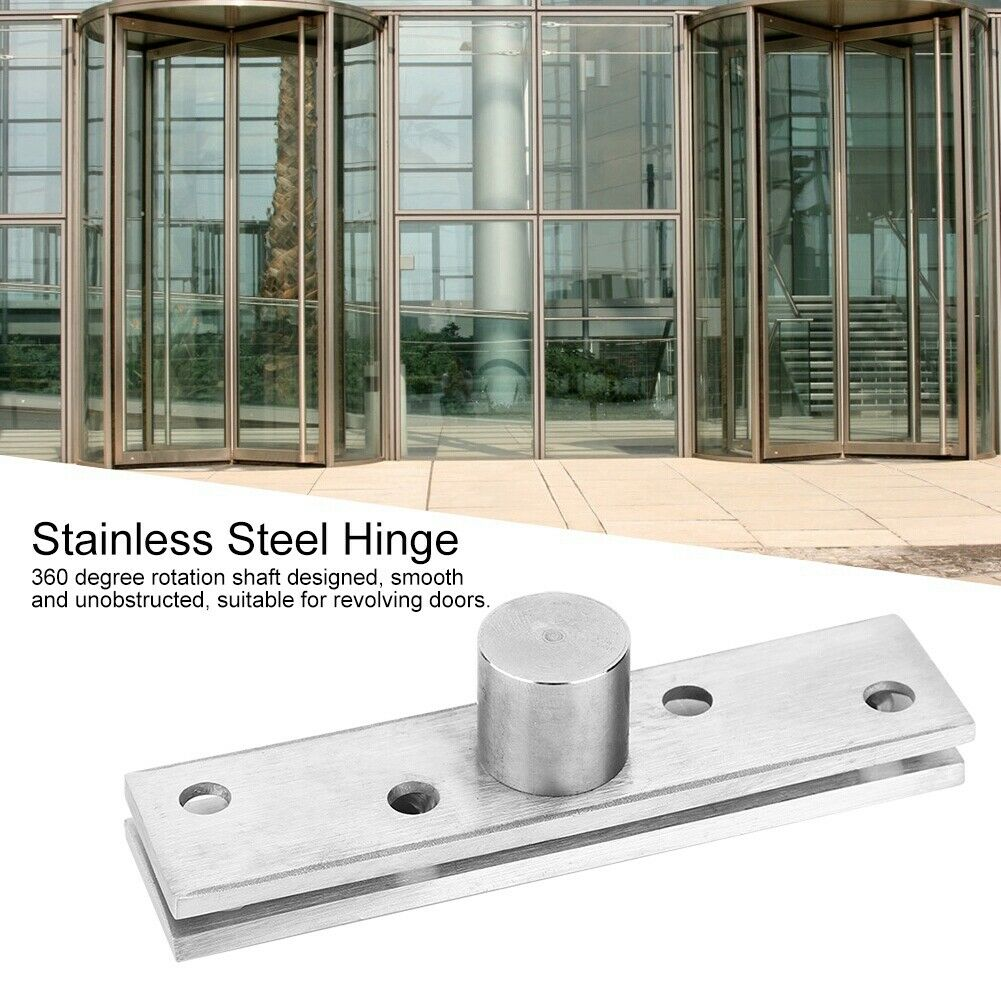 Fdit Gold Stainless Steel Mute Door Hinge Smooth Movement and Heavy Duty Home Bearing Furniture Hardware Accessories 4.1x3x0.1in