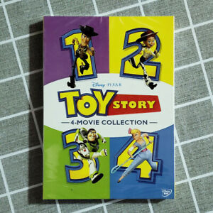 Toy-Story-I-II-III-amp-IV-DVD-1234-1-4-Complete-Collection-Movie-Fast-shipping