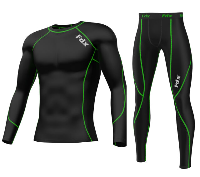FDX Mens Compression Armour Base layer Top & legging running under arm Skin Fit