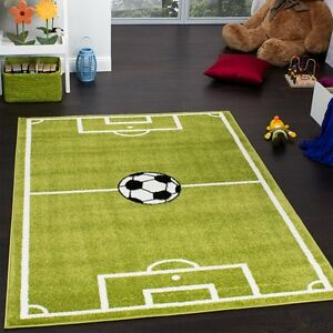 Image Is Loading Football Rug For Boy Bedroom Kids Play Room