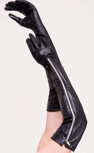 Lange Rindnappa Handschuhe mit RV  Leather Gloves