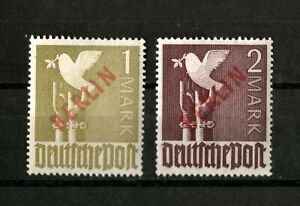 Berlin (West) 1949 with Overprint - RED #fine MNH SIGNED.