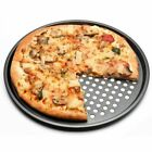 Carbon Steel Nonstick Pizza Baking Pan Tray 32cm Plate Dishes Holder Bakewaro6s2