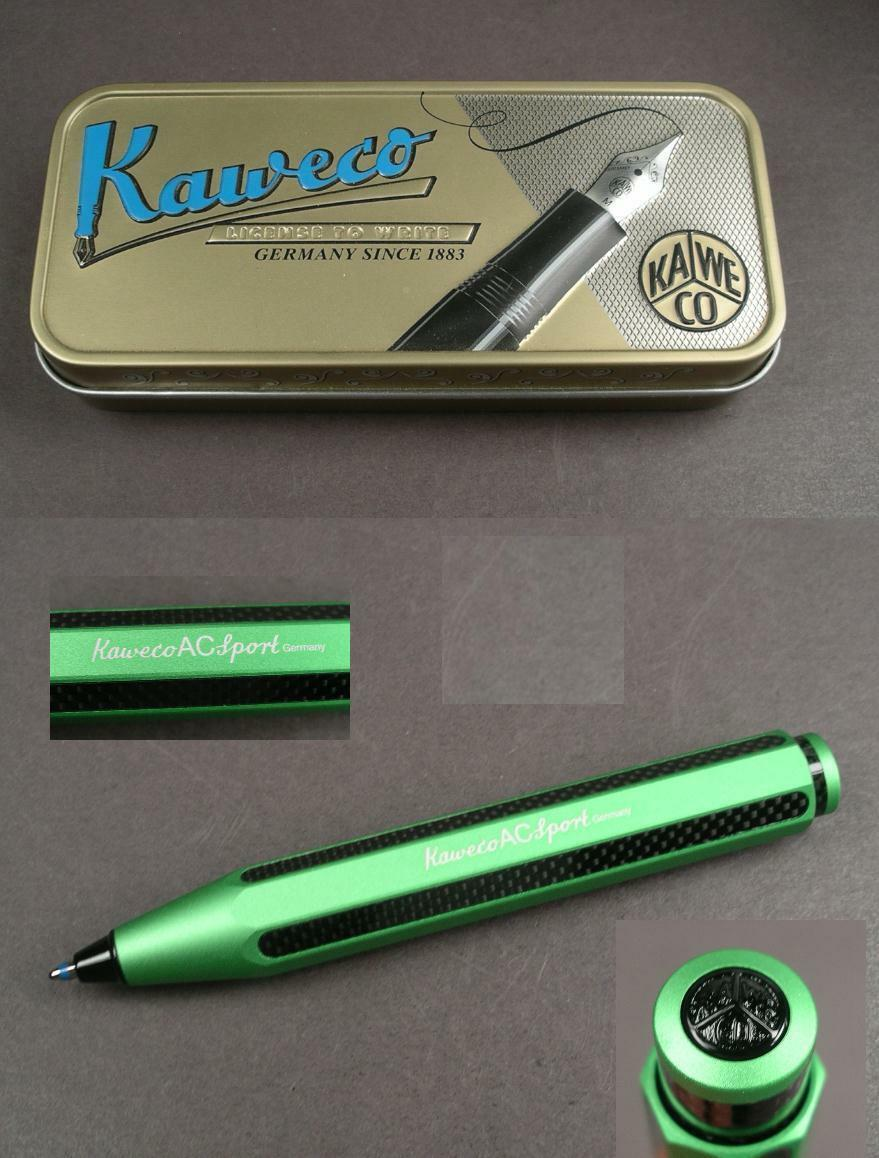 Kaweco Carbon Sports Ballpoint Pen made of Aluminium in Green Special Edition