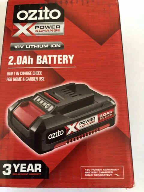 Brand New Genuine Ozito Power X Change 18V 2.0Ah Li-Ion Battery Fast Shipping