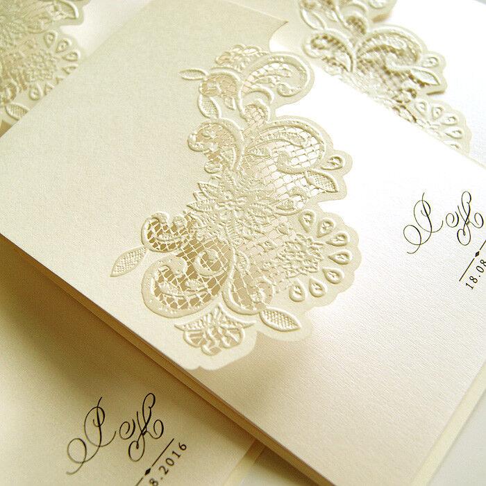 Einladungskarte Hochzeit F1266 mit Umschlag  Mit oder ohne Druck- Hochzeitskarte