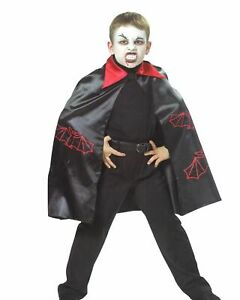 Fledermaus Umhang Vampir Graf Dracula Karneval Halloween Hexenmeister Kinder