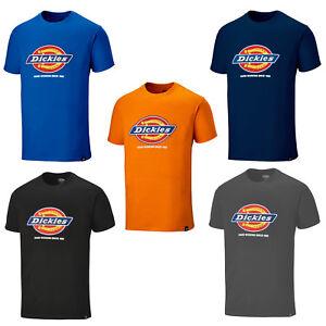 Dickies-Camiseta-Hombre-Denison-Manga-Corta-Cuello-Redondo-Resistente-Trabajo