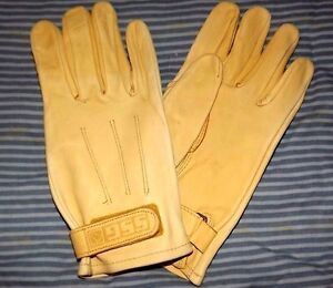 New-SSG-Gloves-Trail-Roper-Unlined-Pair-Natural-size-9